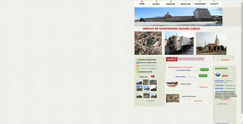 Site Vechi - Servicii de Gospodarire Magura Codlei